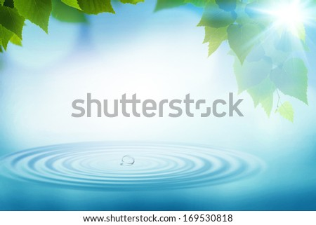 Summer rain, abstract environmental backgrounds for your design - stock photo