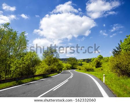Summer road - stock photo