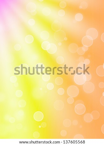 summer's optimistic bokeh - abstract background