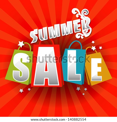 Summer Sale poster. - stock photo