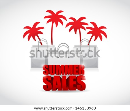 Summer Sale Sign Summer Sale Sign And Bags