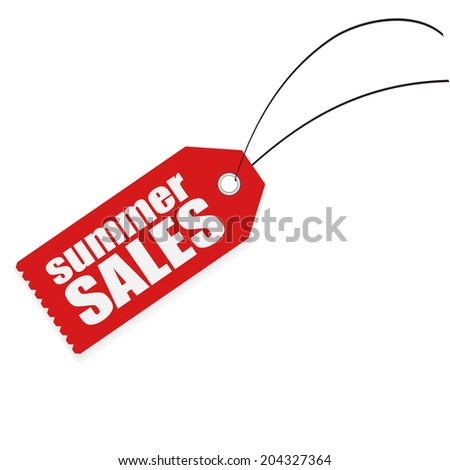 summer sales tag labels - stock photo