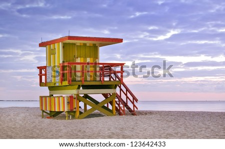 Lifeguard house stock images royalty free images for House painting miami