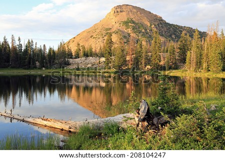 Summer scene in the Uinta Mountains, Utah, USA.