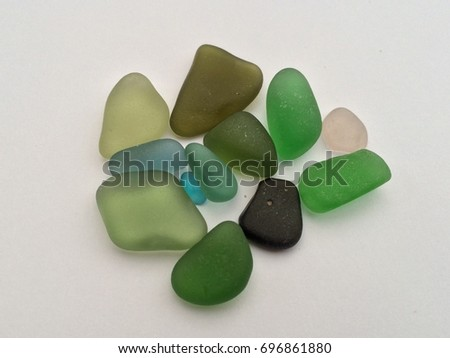 Summer sea glass finds on the Cocagne Cape beaches