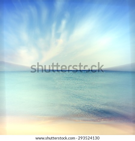 Summer seascape on the sand on the shore