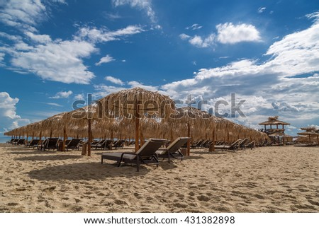 Summer season in the beach - stock photo