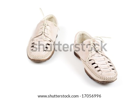 Summer Shoes Lace Up Isolated on White