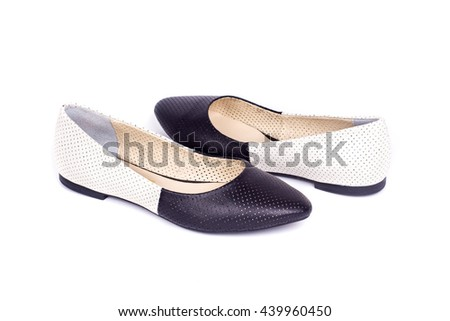 Summer shoes on white background