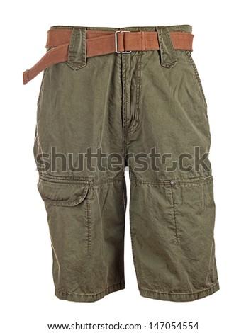 summer shorts isolated on white background   - stock photo