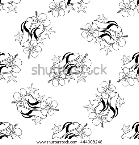 Summer sketch pattern. Use for coloring pages,  textiles, souvenirs, web pages elements, cards, pattern fills and etc.
