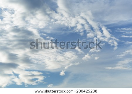 summer sky cloudskape, environmental background of summer weather