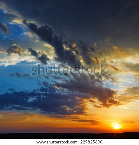 summer sky sunset clouds landscape