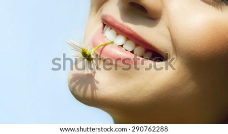 Summer smile. - stock photo