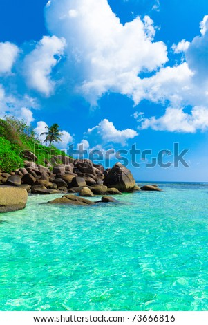Summer Stones Scene - stock photo
