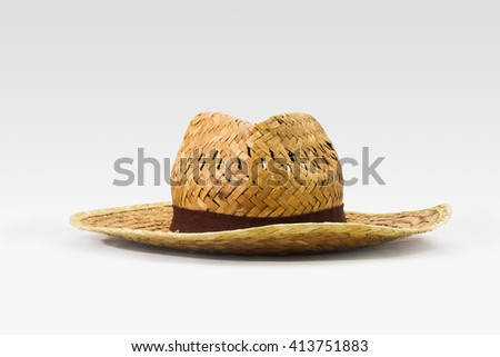 Summer straw hat isolated on white background / Summer Hat