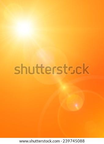 Summer sun background  - stock photo