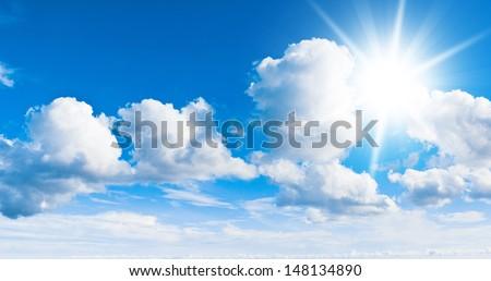 Summer Sun Heaven Wallpaper  - stock photo