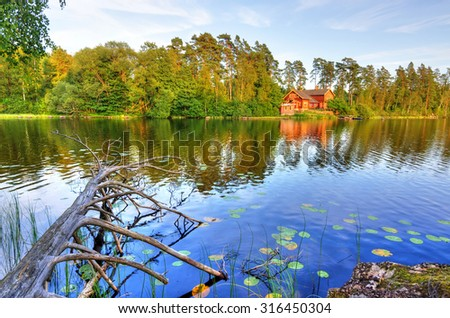 Summer Sweden reflections - stock photo
