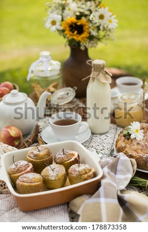 summer sweet table  - stock photo