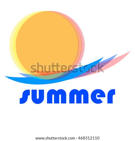 Summer Symbol, isolated with copy space on white