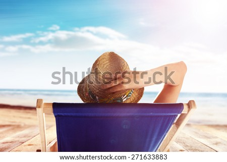 summer time and woman on chair