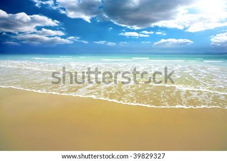 Summer time Australin costline - stock photo