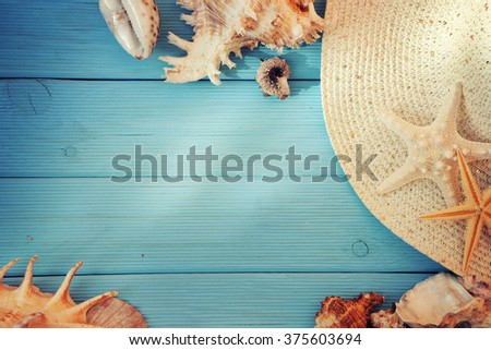 Summer time background. Travel concept - stock photo