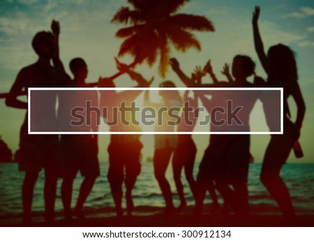 Summer Togetherness Friendship Vacation Bonding Concept - stock photo