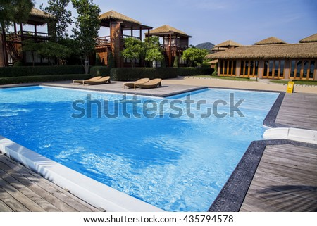 Summer, Travel, with pool in hotel resort