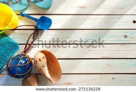 Summer vacation background - stock photo