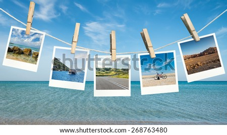 Summer vacation ideas - stock photo