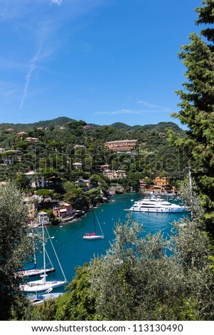 Summer vacation in Portofino village, Italy - stock photo