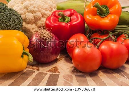 summer Vegetables - stock photo
