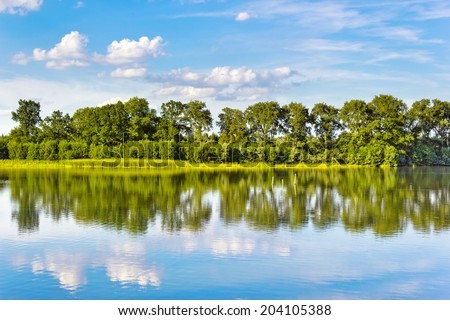 summer water landscape - stock photo