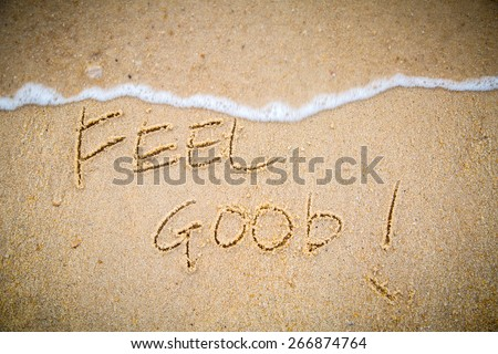 Summer 2015 with Text feel good for your holiday activity - stock photo