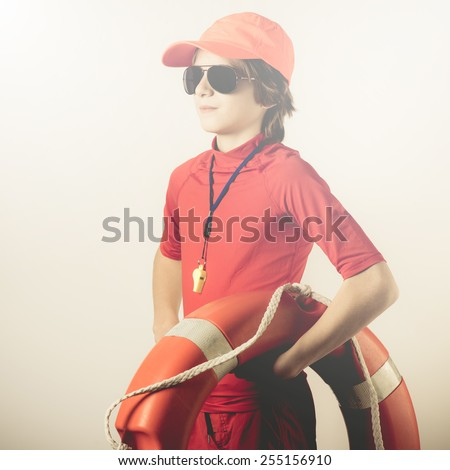 summertime beach safety - stock photo