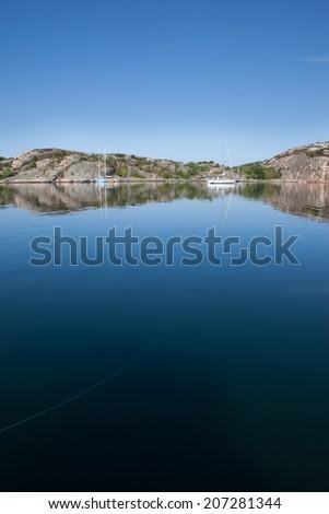 Summertime in sweden. Boat life. - stock photo