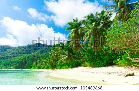 Summertime Panorama Tranquility - stock photo