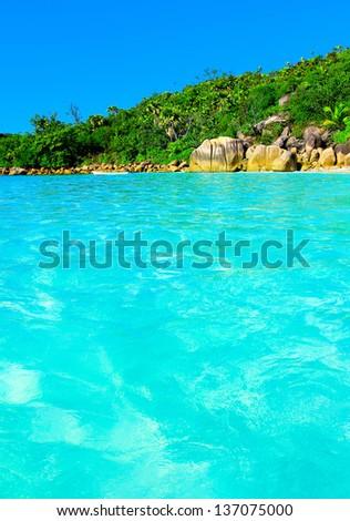 Summertime Shore Bay - stock photo