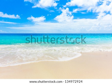 Summertime Tranquility Sea - stock photo