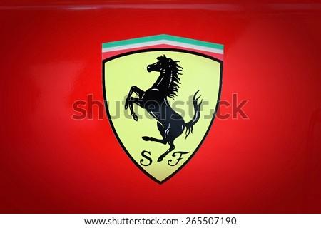SUMPERK - DEC 19, 2009: The Scuderia Ferrari team was founded by Enzo Ferrari in 1929.. December 19, 2009 in Sumperk, Czech Republic - stock photo