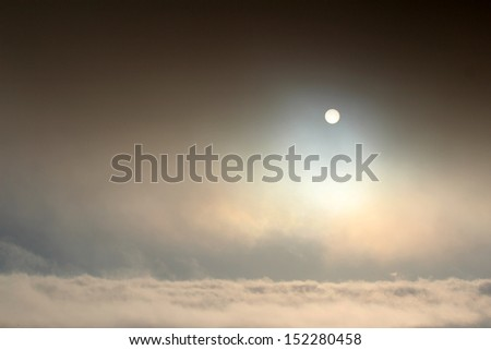 Sun above clouds - stock photo