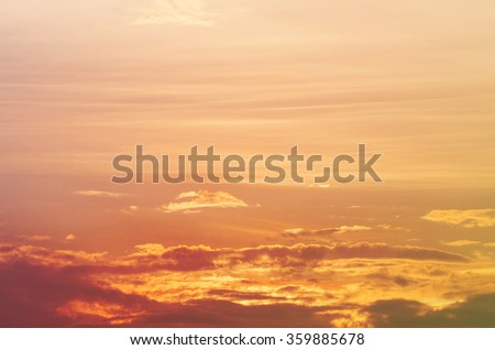 sun and cloud background with a pastel colored gradient. - stock photo