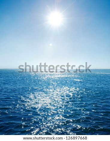 sun and sea. - stock photo