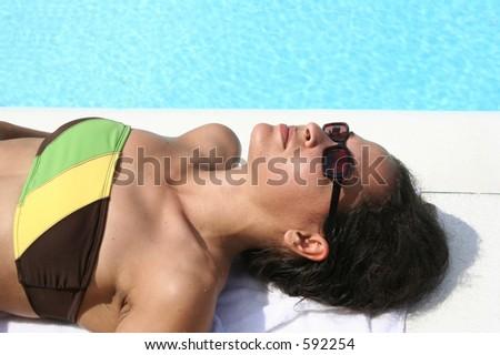Sun bathing - stock photo