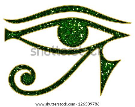 Sun Eye Horus Reverse Moon Eye Stock Illustration ...