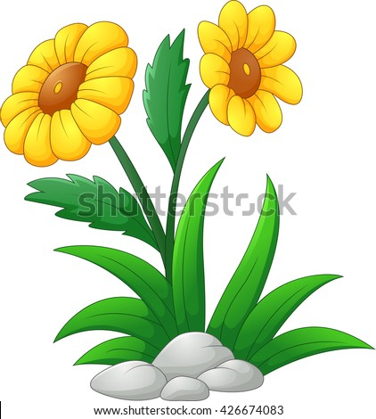sun flower cartoon