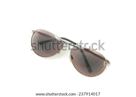 Sun glases on white background
