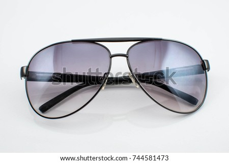 sun glass with white background isolated item
